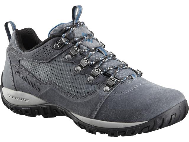 Columbia Peakfreak Venture Low Suede WP Calzado Hombre, graphite/phoenix blue